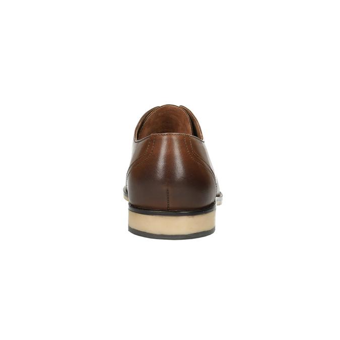 Ležérní kožené polobotky hnědé bata, hnědá, 826-3653 - 17