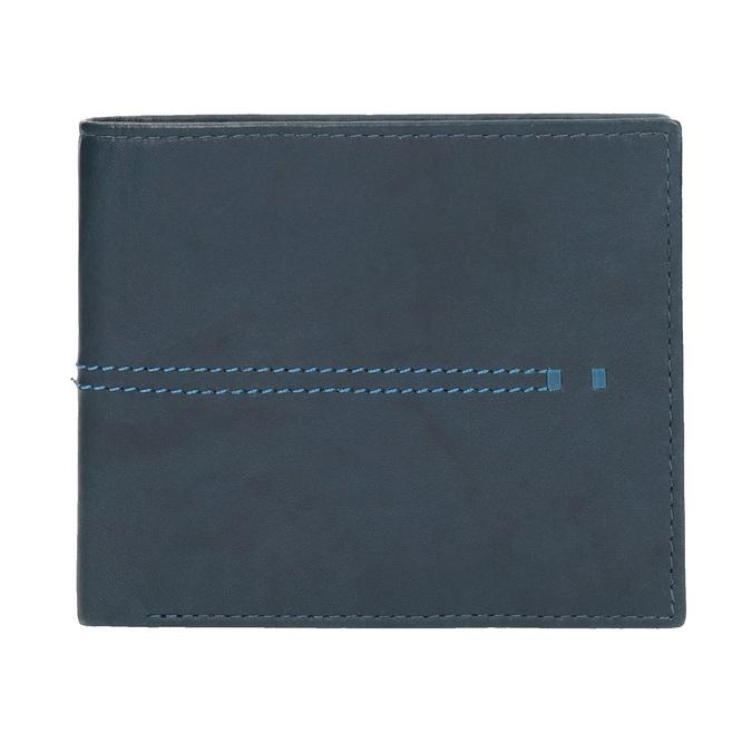 Kožená peněženka s prošíváním bata, modrá, 944-9176 - 26