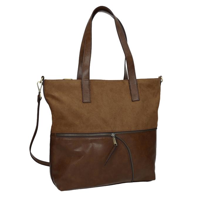 Dámská kabelka s asymetrickým zipem bata, hnědá, 961-3847 - 13
