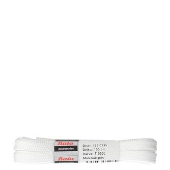 Tkaničky 100 cm bata, bílá, 901-1102 - 13