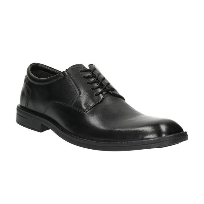 Černé kožené polobotky bata, černá, 824-6743 - 13