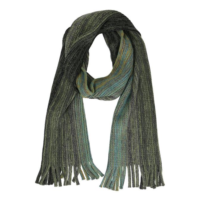 Pánská pletená šála zelená bata, zelená, 909-7230 - 13