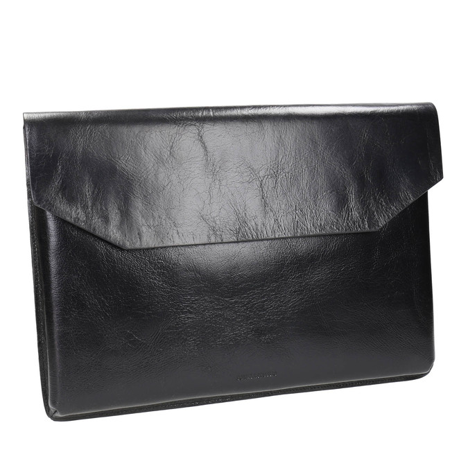 Taška na dokumenty kožená royal-republiq, černá, 964-6009 - 13