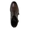 Kožená kotníčková obuv s přezkami bata, hnědá, 894-4683 - 19