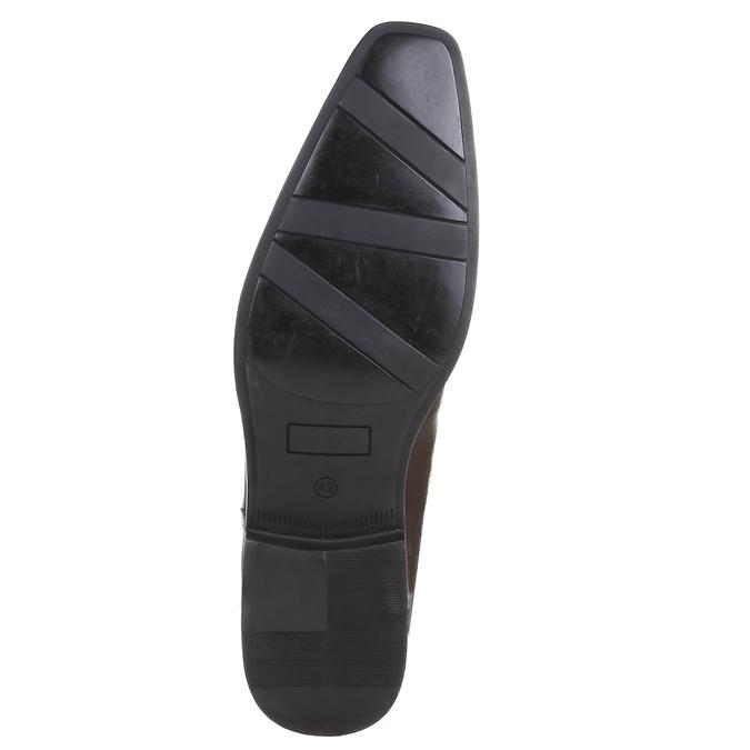 Ležérní kožené polobotky na výrazné podešvi bata, hnědá, 824-4698 - 18