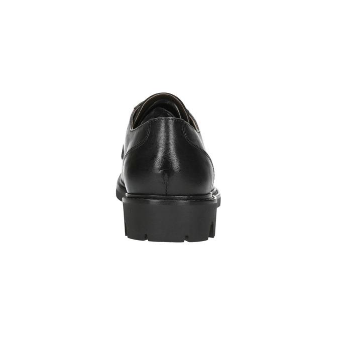 Pánské kožené polobotky bata, černá, 844-6627 - 17