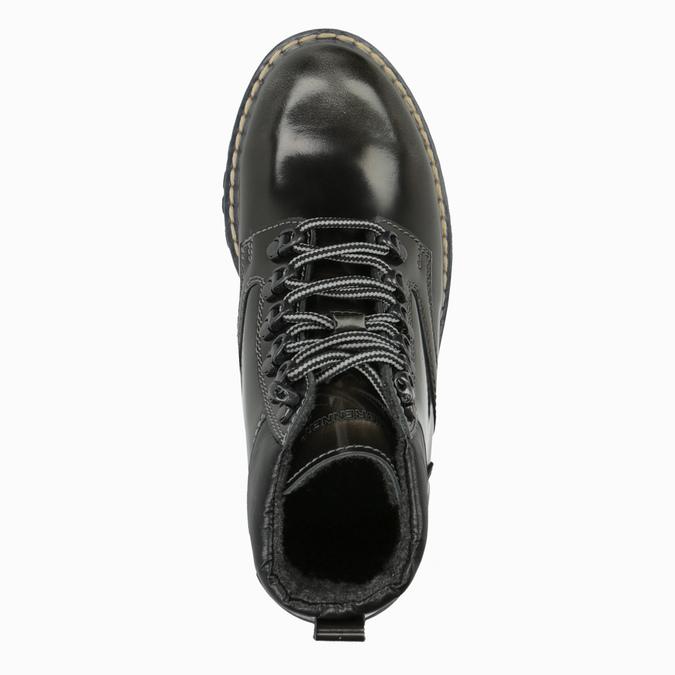 Kožená dámská zimní obuv weinbrenner, zelená, 596-7634 - 19