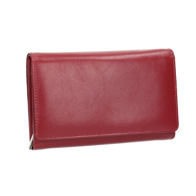 Kožená dámská peněženka bata, červená, 944-5168 - 13
