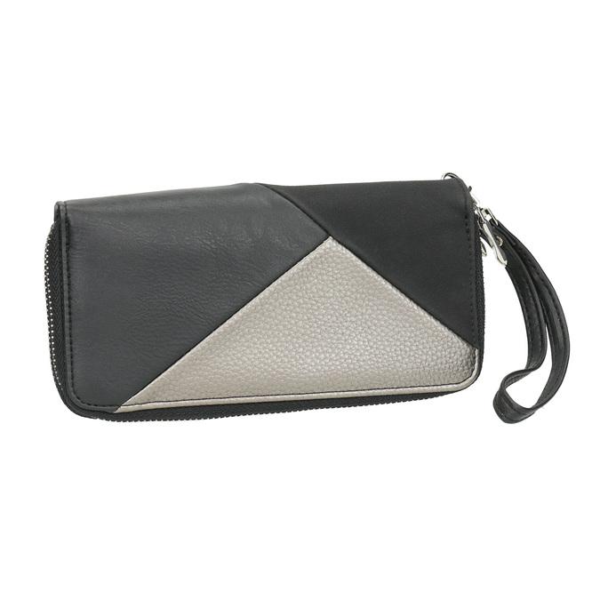 Dámská peněženka v Patchwork stylu bata, černá, 941-6152 - 13