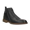 Kožená kotníčková obuv pánská bata, černá, 894-6660 - 13