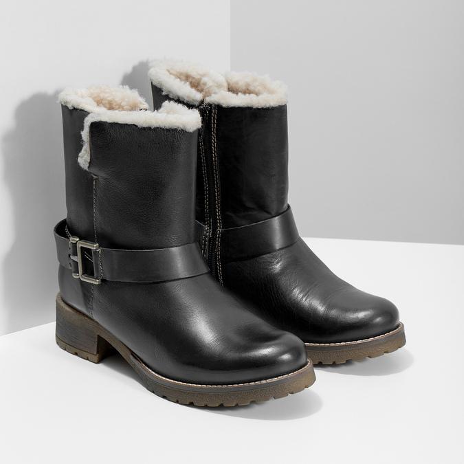 Dámská obuv s kožíškem bata, černá, 594-6609 - 26