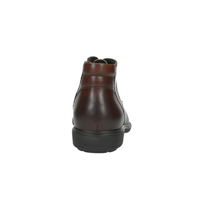 Kožená pánská obuv ke kotníkům bata, hnědá, 894-4671 - 17