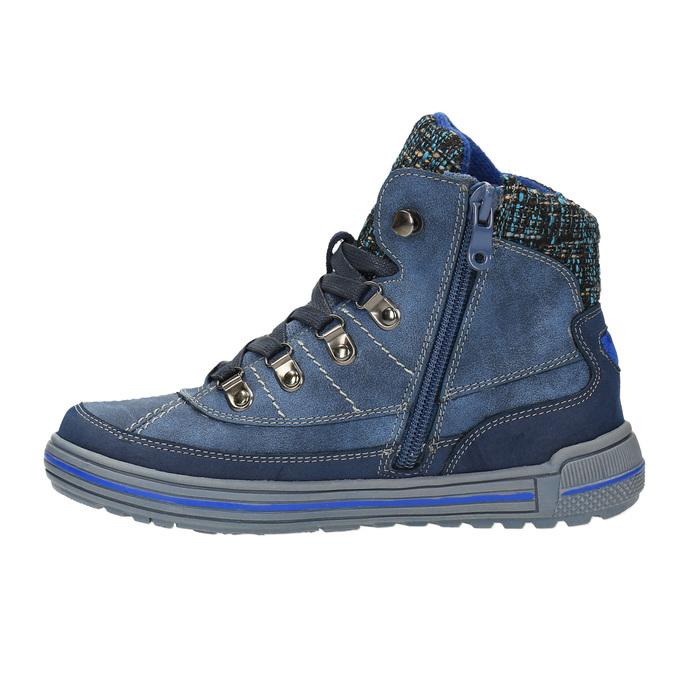 Dětská kotníčková obuv se zateplením mini-b, modrá, 491-9651 - 26