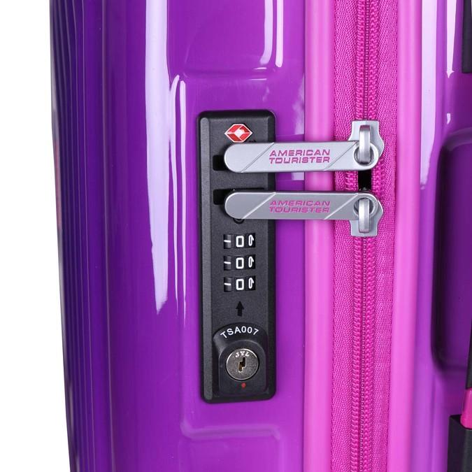 Skořepinový kufr na kolečkách american-tourister, fialová, 960-5110 - 17