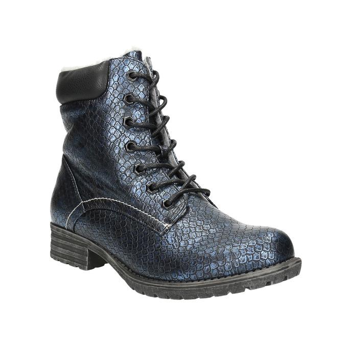 Dětská zimní obuv bull-boxer, modrá, 491-9008 - 13