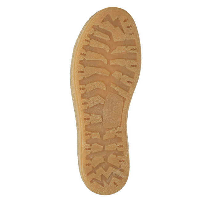 Kožené kotníčkové tenisky s kožíškem weinbrenner, hnědá, 596-8627 - 26