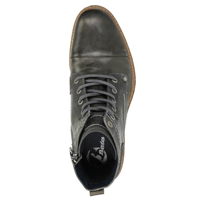 Pánská kožená obuv kotníčková bata, šedá, 894-2621 - 19