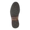 Kožená kotníčková obuv s ozdobným zipem bata, hnědá, 896-3654 - 26