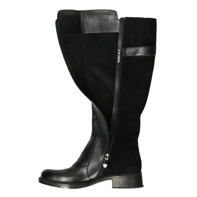 Dámské kozačky v jezdeckém stylu bata, černá, 594-6633 - 19