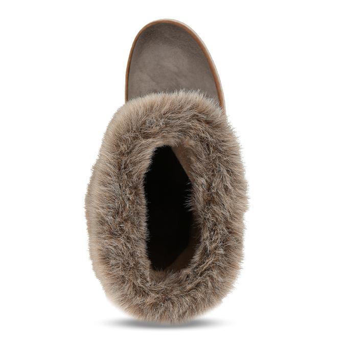 Kožená vycházková obuv s kožíškem weinbrenner, šedá, 596-2633 - 17