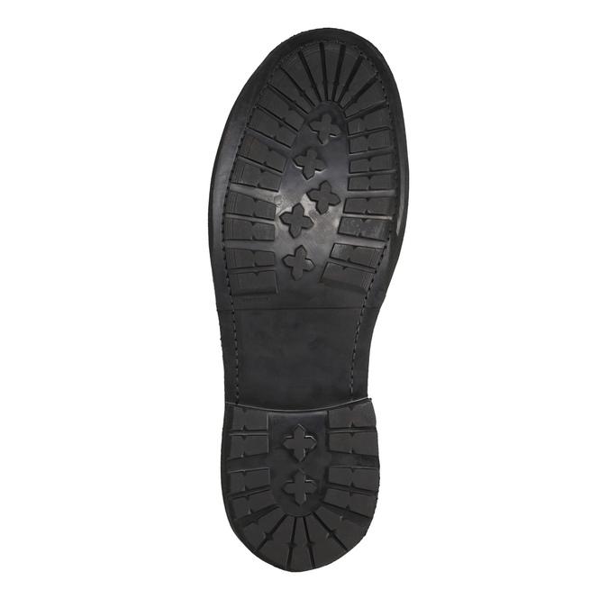Kožená pánská kotníčková obuv bata, hnědá, 846-4607 - 26