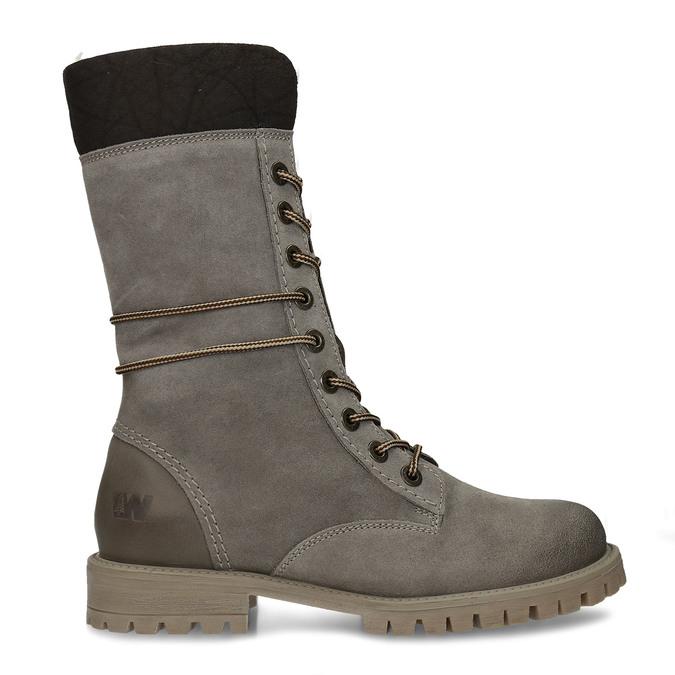 Dámská zimní obuv šněrovací weinbrenner, šedá, 593-2476 - 19