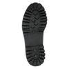 Kožená šněrovací obuv na výrazné podešvi weinbrenner, černá, 596-9635 - 26
