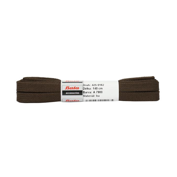 Hnědé ploché tkaničky bata, hnědá, 901-4140 - 13