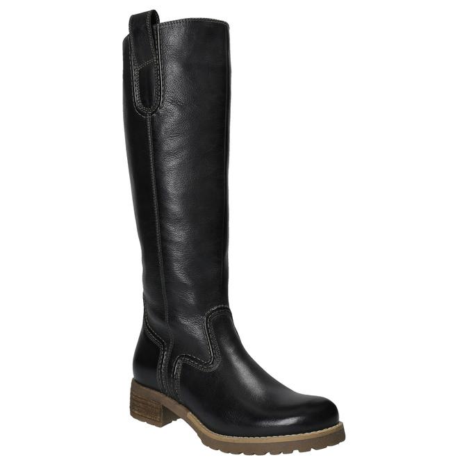 Kožené kozačky s masivní podešví bata, černá, 594-6613 - 13