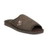 Pánské hnědé domácí nazouváky bata, hnědá, 879-4606 - 13