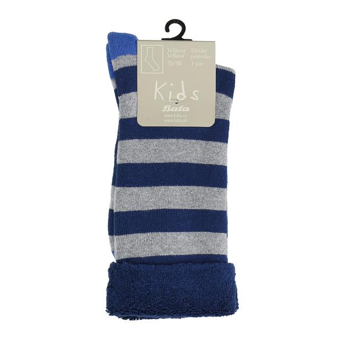 Teplé dětské ponožky bata, modrá, 919-9436 - 13