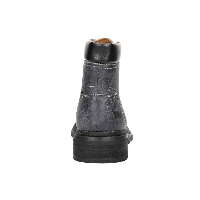 Dámská kožená kotníčková obuv weinbrenner, šedá, 596-6632 - 17