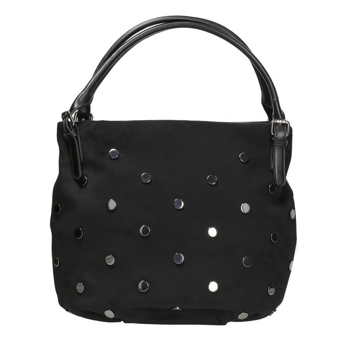 Dámská kabelka s kovovými cvoky bata, černá, 961-6256 - 26