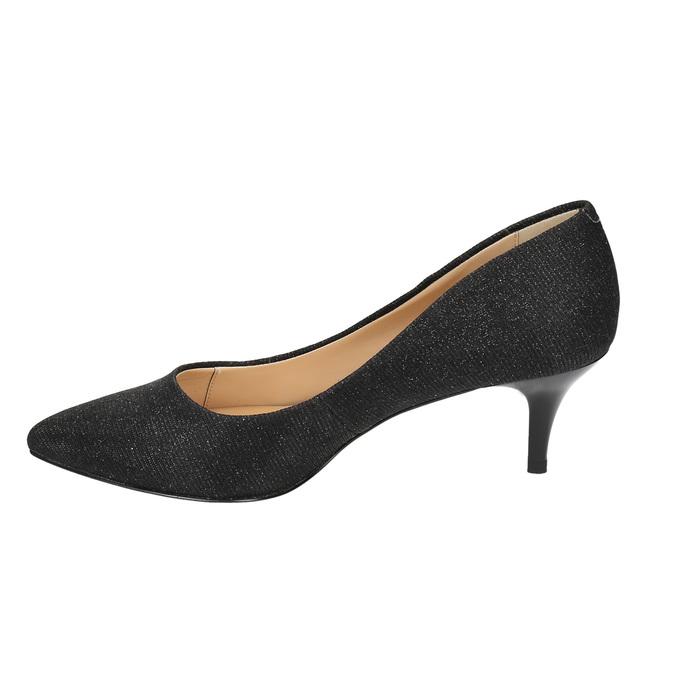 Elegantní lodičky na nízkém podpatku bata, černá, 629-6631 - 26