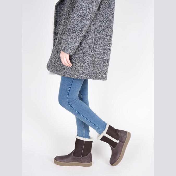 Kožená zimní obuv s kožíškem weinbrenner, hnědá, 596-8628 - 18