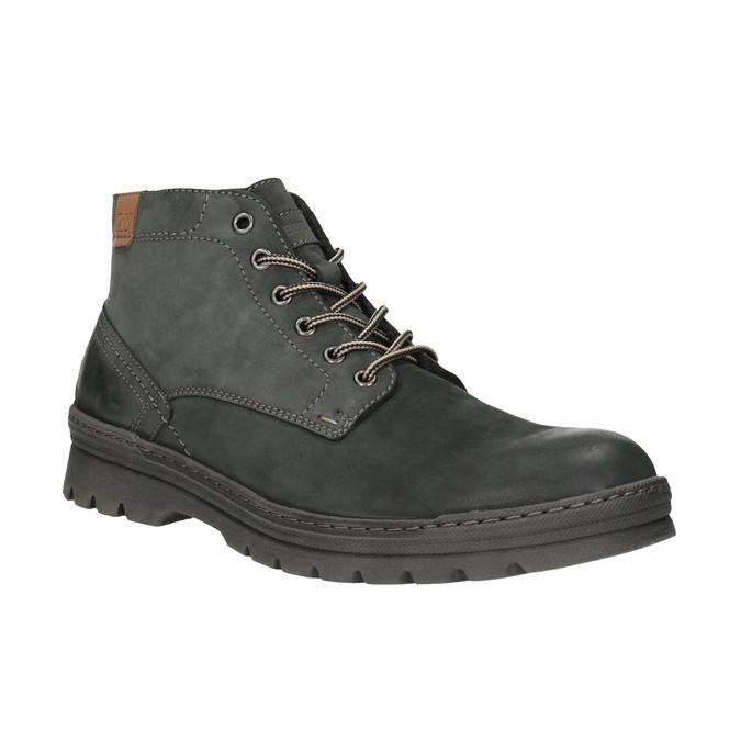 Kožená pánská kotníčková obuv weinbrenner, šedá, 896-2107 - 13