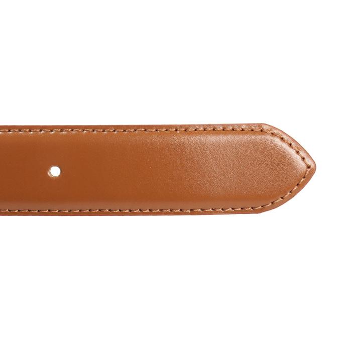 Hnědý kožený opasek pánský bata, hnědá, 954-3153 - 16