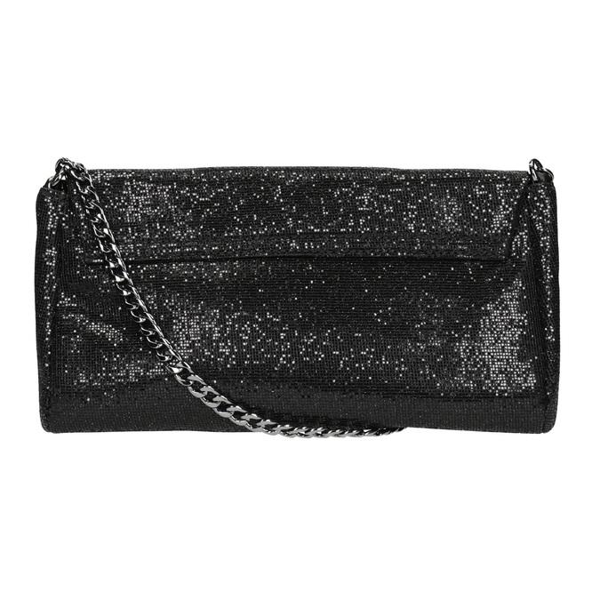 Třpytivé dámské psaníčko bata, černá, 969-6220 - 19
