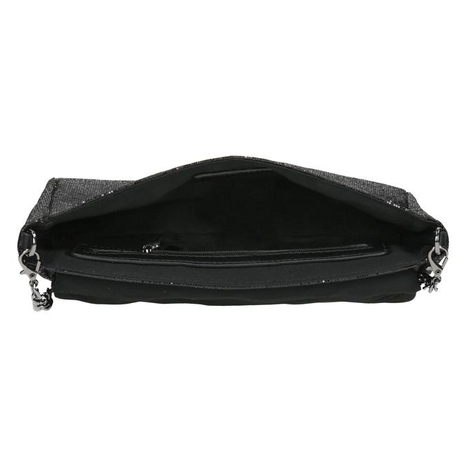 Třpytivé dámské psaníčko bata, černá, 969-6220 - 15
