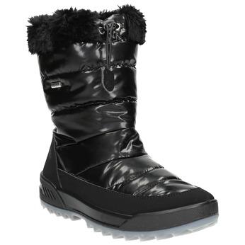 Černé sněhule s kožíškem weinbrenner, černá, 591-6617 - 13