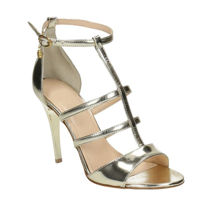 Zlaté kožené sandálky bata, zlatá, 2020-728-8644 - 13