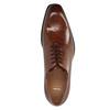 Kožené Oxford polobotky s Brogue zdobením bata, hnědá, 826-3811 - 19