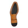 Hnědé kožené polobotky v Oxford střihu bata, hnědá, 826-3810 - 26