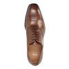 Hnědé kožené polobotky v Oxford střihu bata, hnědá, 826-3810 - 19