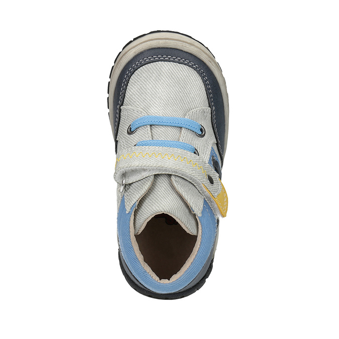 Dětská kotníčková obuv se suchým zipem bubblegummers, šedá, 111-2616 - 19