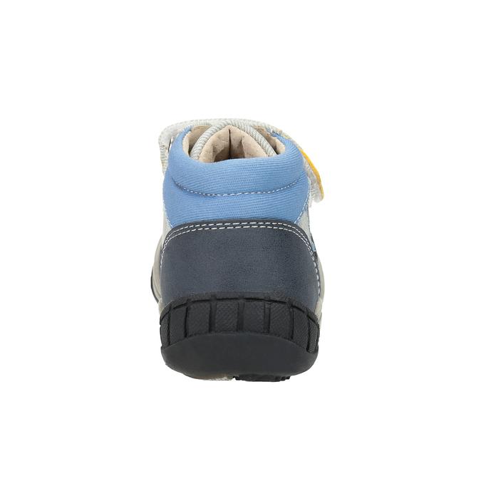 Dětská kotníčková obuv se suchým zipem bubblegummers, šedá, 111-2616 - 17