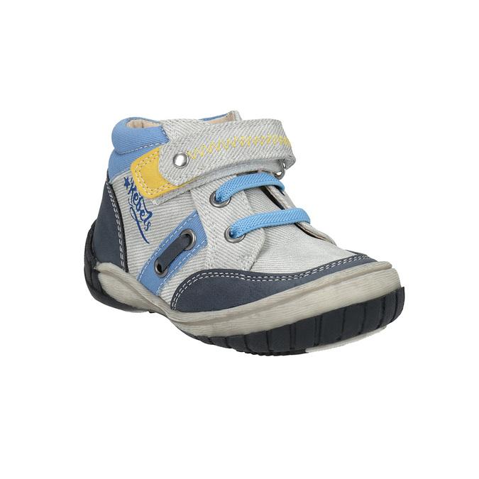 Dětská kotníčková obuv se suchým zipem bubblegummers, šedá, 111-2616 - 13