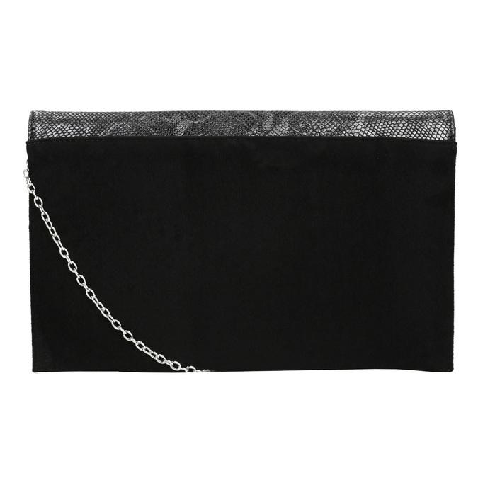 Obálkové psaníčko se stříbrným řetízkem bata, černá, 969-6644 - 19