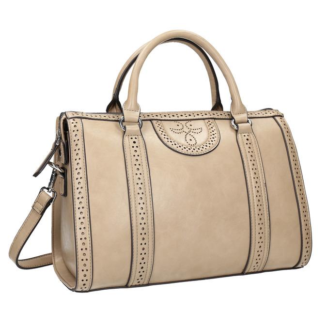 Dámská kabelka s perforací bata, béžová, 961-8868 - 13