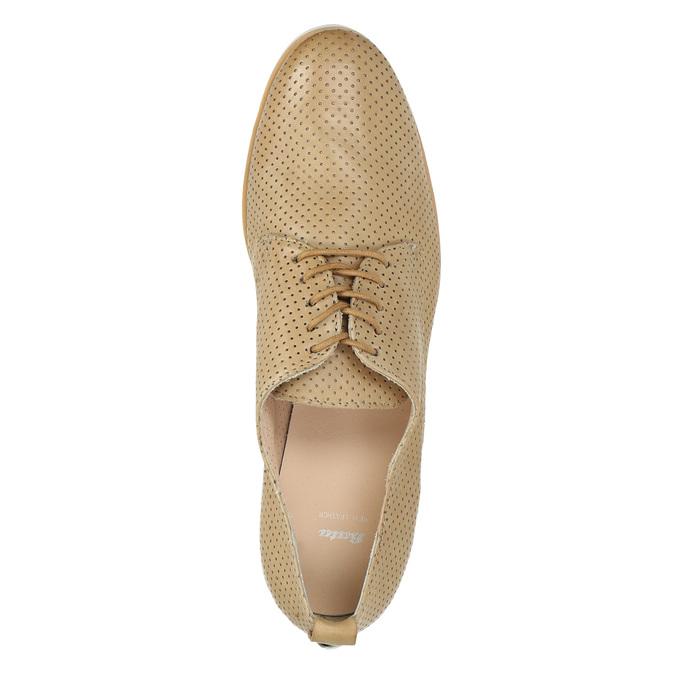 Dámské kožené polobotky ležérní bata, béžová, 526-3626 - 19